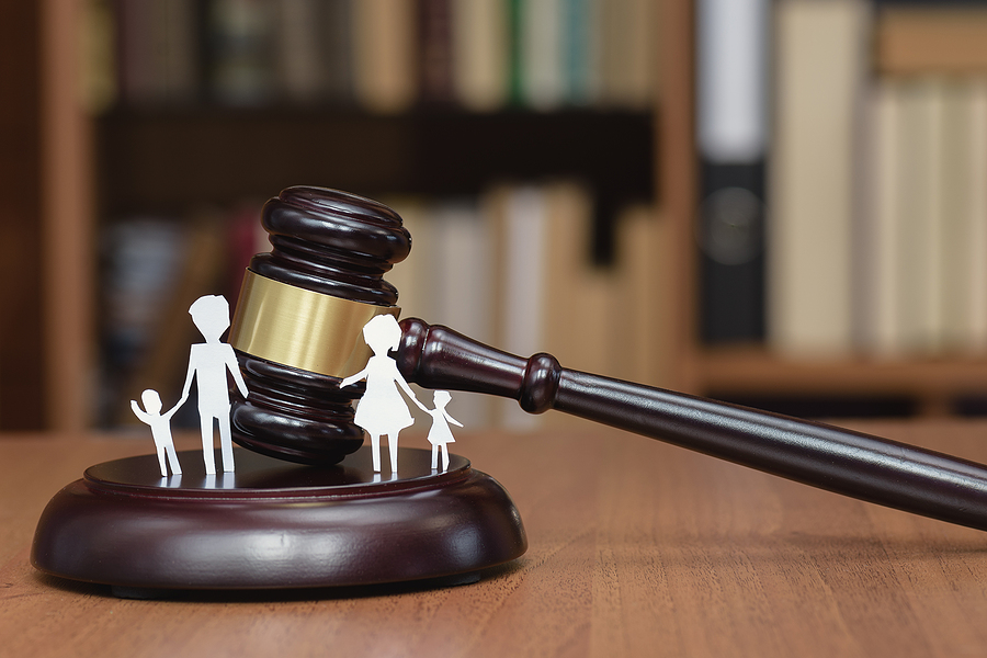 Court And The Rights Of The Family And Children. Family Court in Sydney concept