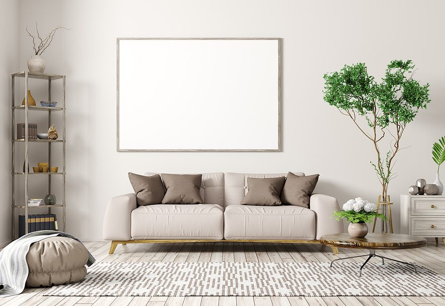 Living roon with modern rugs in Australia